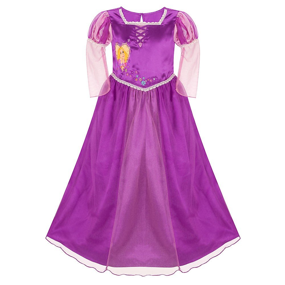 Disney Store Deluxe Tangled Rapunzel Princess Nightgown Size Small 5//6 5T