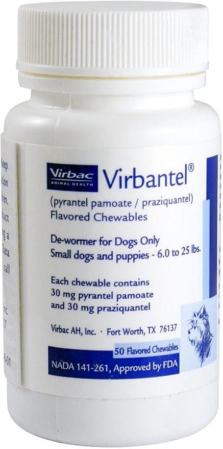 Amazon.com: virbantel Flavored Chewable tabletas – dewormer ...