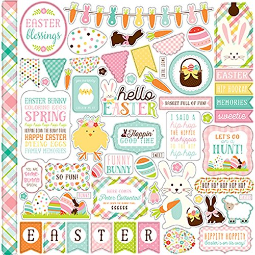Easter Elements (Echo Park Hello Easter Element Sticker Sheet)