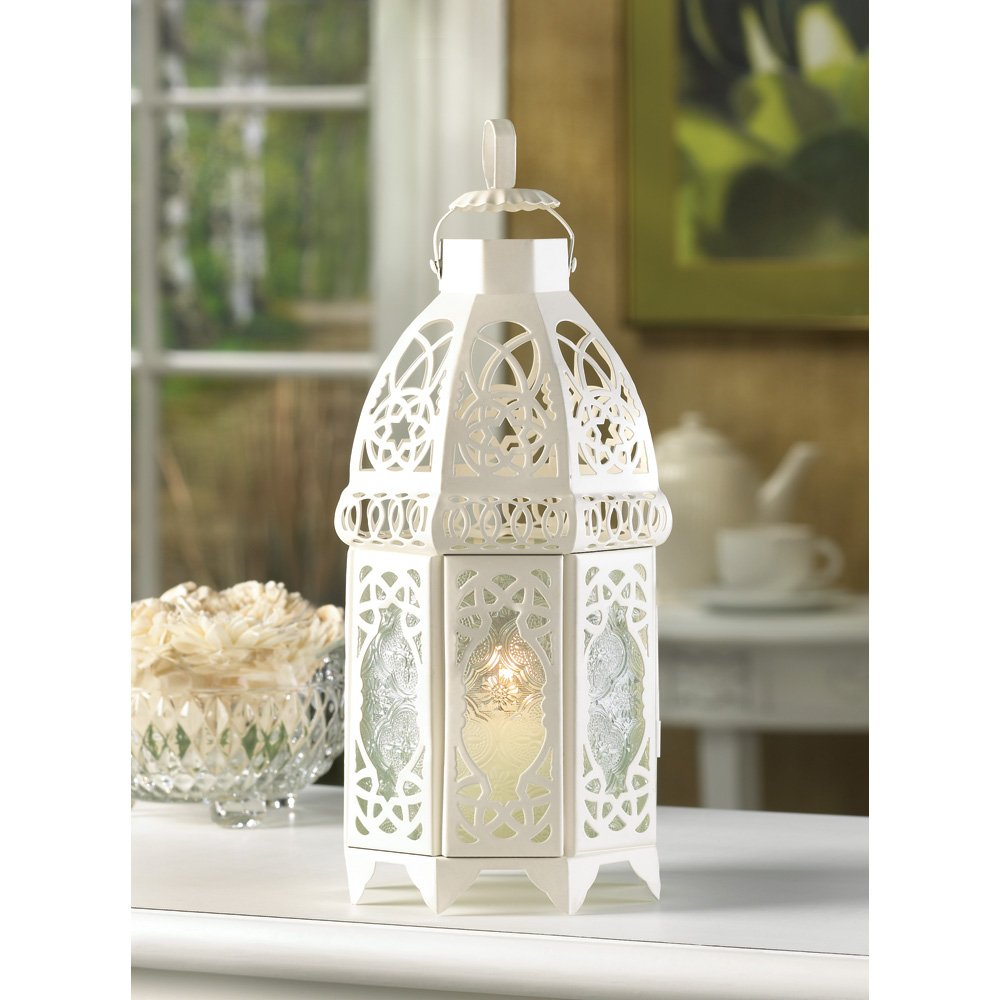 Amazon.com: 20 Wholesale White Lattice Lantern Wedding Centerpieces ...