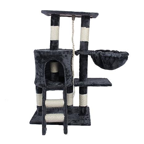 Árbol para Gato con Rascador Torre de Gatos con Nidos Plataformas Juego de Mascota, 30cm