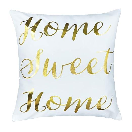4TH Emotion Home Sweet Home - Funda de cojín de Lino y ...