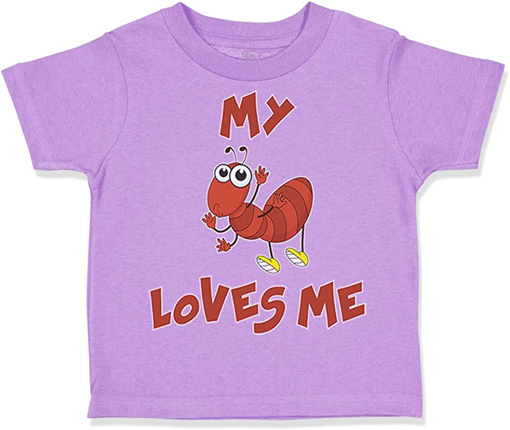 Custom Toddler T-Shirt My Aunt Loves Me Auntie Style D Cotton Boy /& Girl Clothes