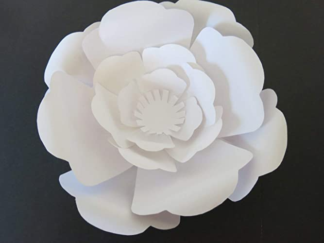 Amazon Com Large White Paper Rose Flower Wall Hanging Classic