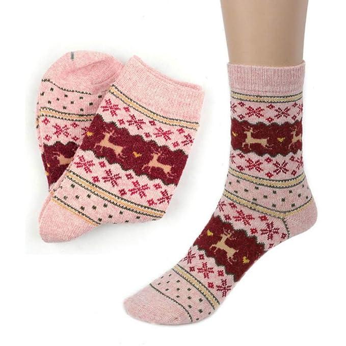 Kinlene Niñas Damas Mujeres Muslos Altos Sobre la Rodilla Calcetines Largas medias de algodón Cálido: Amazon.es: Ropa y accesorios