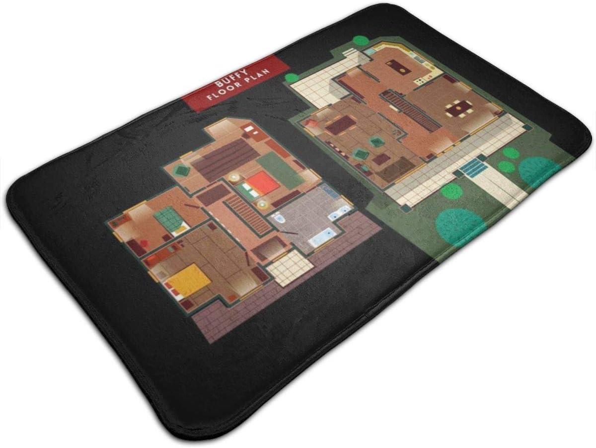 Laojinan Shop Buffy The Vampire Slayer House Floor Plan Door Mat Non Slip Carpet 19 5 X 31 5 Inch Amazon Co Uk Kitchen Home