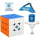 FAVNIC GAN356R 立体パズル3x3x3 競技用 ステッカーレス 収納袋付き! 脳トレ おもちゃ (GAN356R)