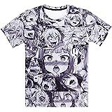 パロディ アニメ モノトーン グラフィック Tシャツ Lサイズ