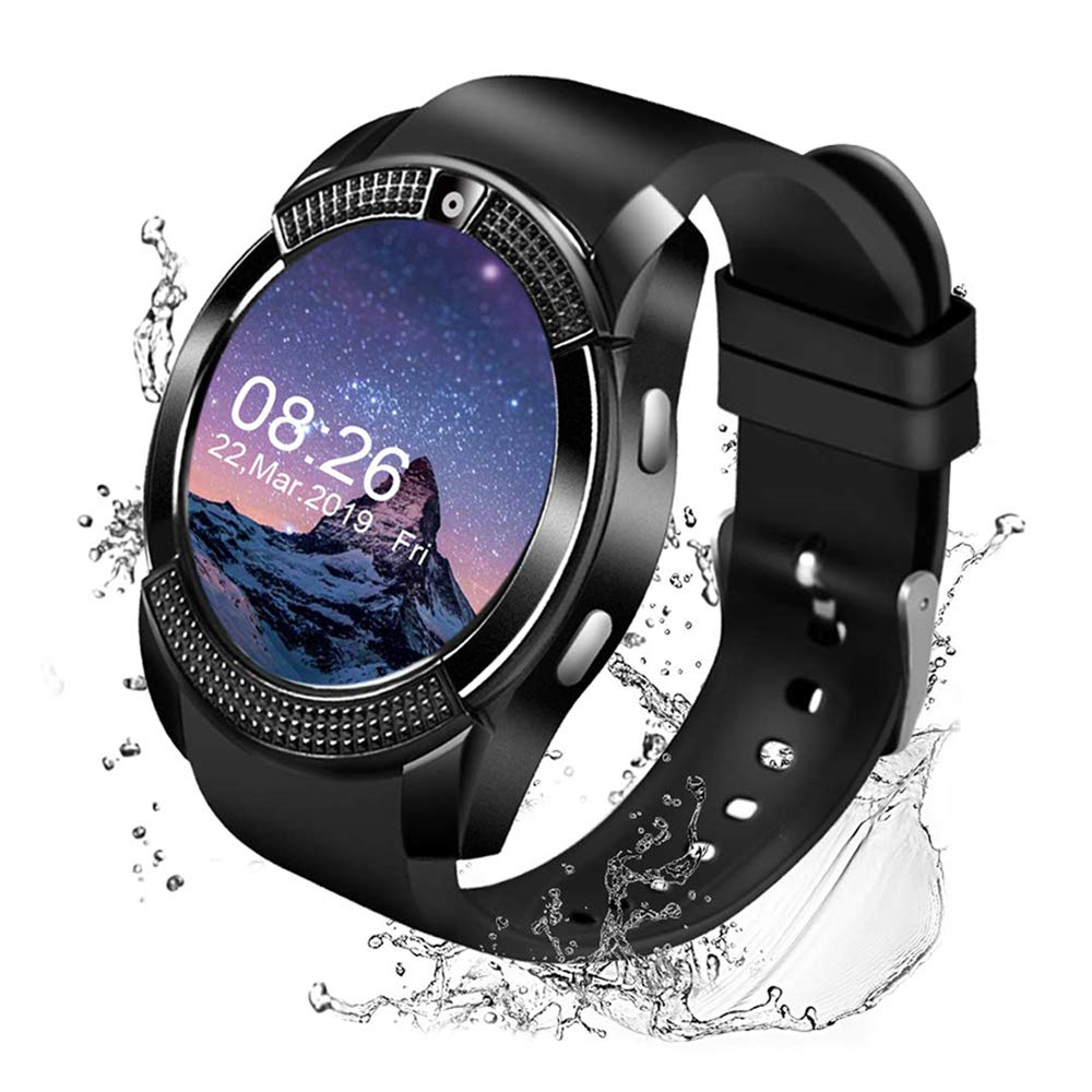 Maoday Smart Watch,Bluetooth Smartwatch Touch Screen Wrist Watch with Camera/SIM Card Slot,Waterproof Smart Watch Sports Fitness Tracker Android Phone ...