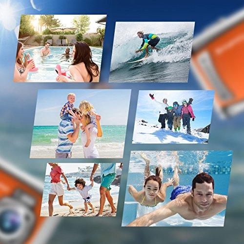 BanffCliff Waterproof Digital Camera, 21MP 1080P HD Anti-Shock 3 Meter Underwater Action Cam, 2.4