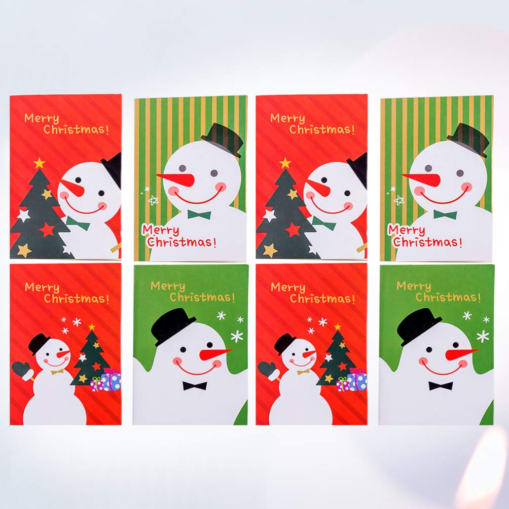 Random Style STOBOK Christmas Notebook Mini Pocket Notebook Snowman Memo Pads for Children Kids Student Xmas Gift 48pcs