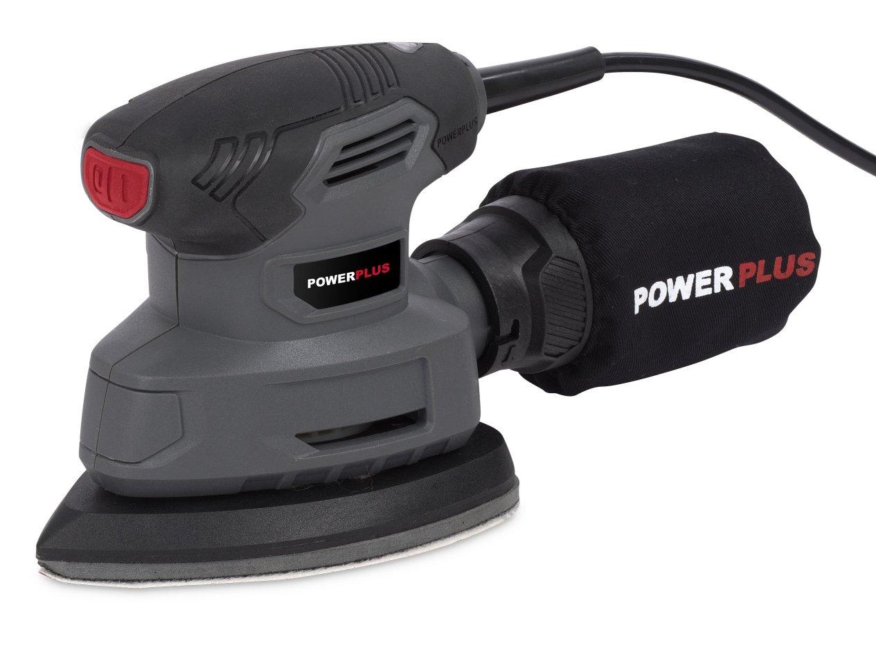 Powerplus powe40020 Multi Sander 140 W Black, Grey Power Sander –  Power Sanders (120 x 185 x 160 mm, 1.22 kg, 140 W, 230 V) Grey Power Sander-Power Sanders (120x 185x 160mm 1.22kg 140