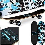 Planche à roulettes Skateboard - Atlantic Rift - Roues ABEC 9 - Gris