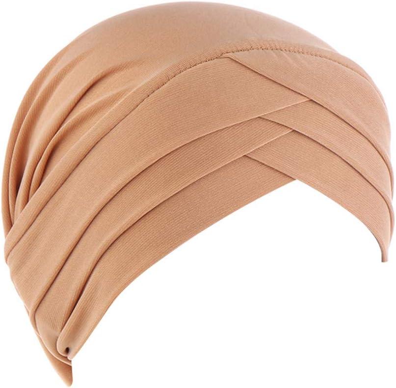 P/èrdida de Pelo,Caf/é TININNA Turbantes para Mujer Cancer,Moda Casual Elegante Color Solido Lavada Pa/ñuelo Bufanda Musulmana para Quimioterapia Chemo Oncol/ógico Yoga
