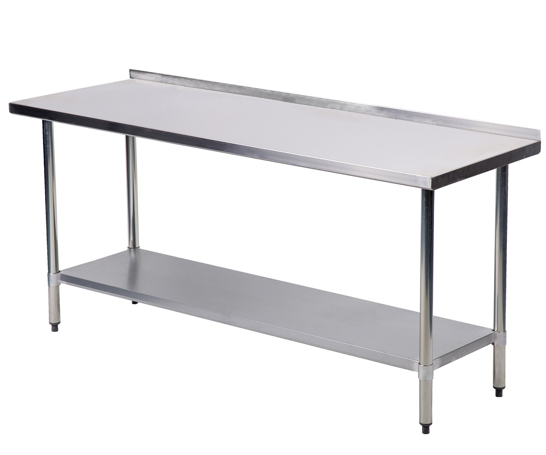 24''x60''Stainless Steel Work Table w/Backsplash Kitchen Restaurant Table Eb