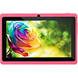 7Inches Tablet PC HD Touchscreen Mic WiFi Android 4.4 Octa Core Quad Core Tablet PC 1GB + 8GB Dual Camera WiFi,Support Games, Skype,MSN,Facebook, Twitter, etc (Red)