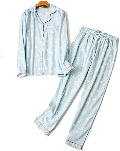 Pijama de algodón para Mujer, Conjunto de Pijamas para otoño, 100 ...