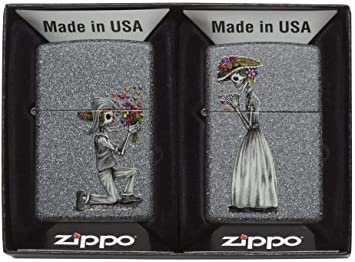 Zippo día de Muertos Calaveras Regular - Hierro Piedra Encendedor ...