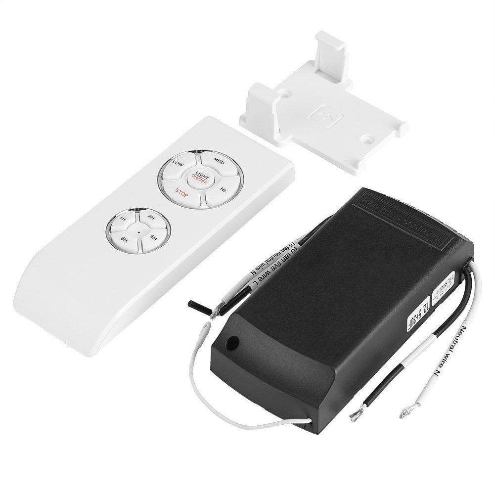 Kit telecomando universale wireless a 4 tempi, 3 velocità per lampadario/ventilatore a soffitto