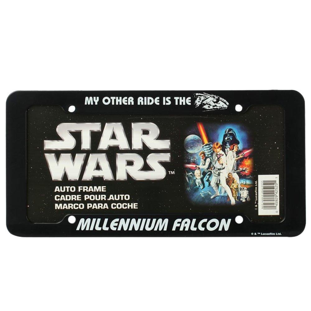 Amazon.com: Star Wars Millennium Falcon License Plate Frame: Health ...