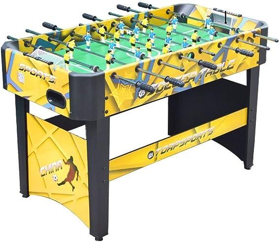 LYATW Playoff 47 Pulgadas de futbolín de Mesa, Juego de fútbol for niños y Adultos con Asas ergonómicas, Juega for los niños (Color: Amarillo, tamaño: 120 * 60 * 80 cm): Amazon.es: Hogar
