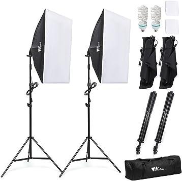 Fotocamera Fotografia Softbox Light Stand Kit Di Illuminazione Continua 135W
