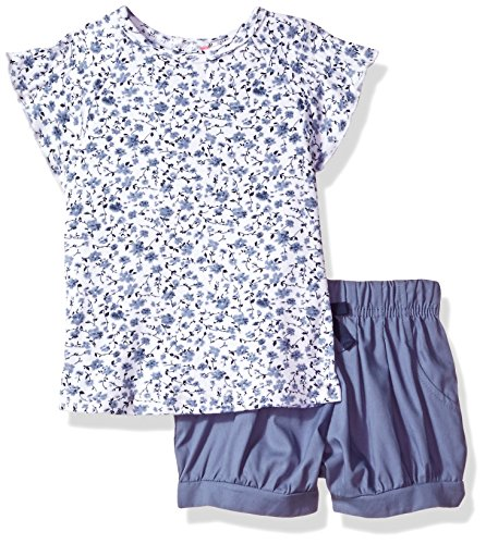 - Isaac Mizrahi Baby Girls' 2 Piece Popover Shirt Set with Shorts, Floral Blue, 12 Months