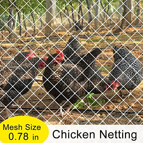 V Protek Poultry Fence Garden Bird Netting Anti Bird Protection Net, Chicken Netting, Fruit Vegetables Flower Garden Pond Netting, 7x20ft, White