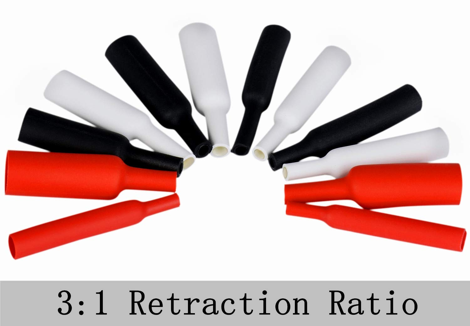 320 pcs 3:1 Shrink Tubing,Heat Shrink Tubing Adhesive Shrink Wrap for Wires Wire Protector Auto and Car Stereo Installs 7 Size 3 Color