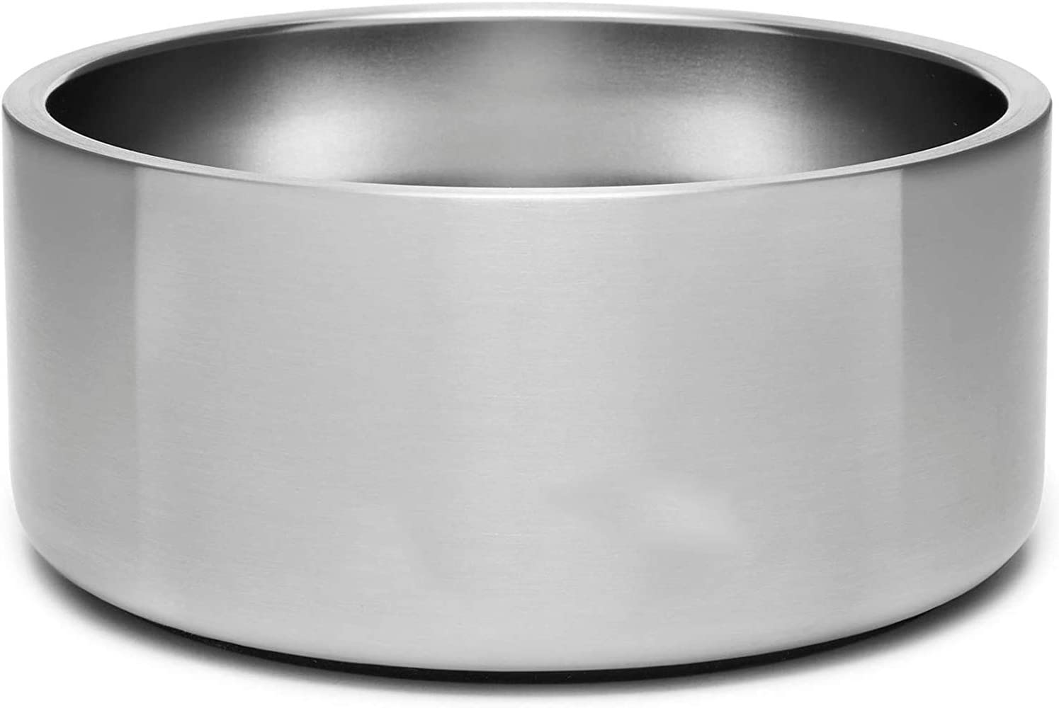 Non-Slip Dog Bowl,304 Stainless Steel Food Water Dish for Dogs and Cats,Pet Bowl for Food & Water,Holds 32 Ounces(Silver)
