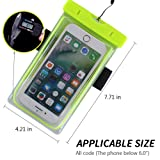 Spuitom Universal Waterproof Case with Armband Glow in The Dark Waterproof Pouch Dry Bag for iPhoneX/8/8plus/7/7plus Samsung Galaxy s8/s7 LG HTC Smartphone Devices Up To