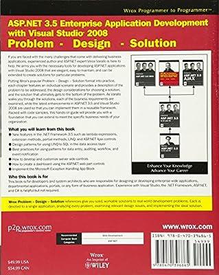 ASP.NET 3.5 enterprise application development with Visual studio 2008 : problem, design, solution