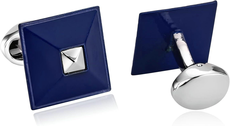 Blisfille Gemelos 2 Pieces Gemelos para Novios Personalizados Gemelos Acero Inoxidable Camisa Hombre,Poliedro Gemelos Camisa Hombre Plata Azul: Amazon.es: Joyería