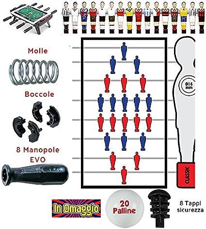 Futbolín Juego de tiras con tubos 16 mm recambio, accesorios y ...