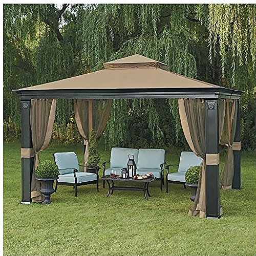 10 x 12 fremont patio gazebo with mosquito netting for Outdoor furniture gazebo