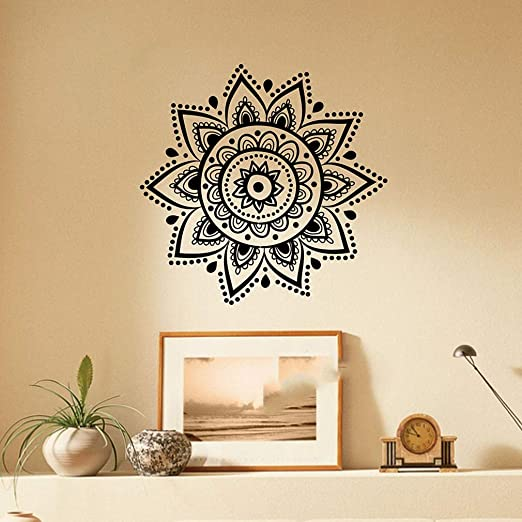pegatina de pared frases Mandala Modern Yoga Diy Indian Wall ...