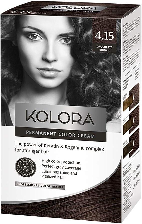AROMA Tinte para el cabello 4.15 Kolora Chocolate Marrón 60 ...