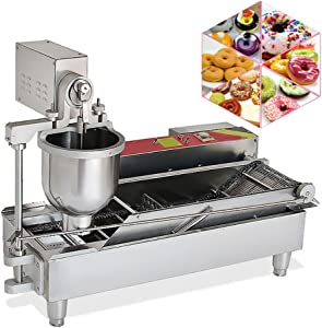 Cake Donut Maker,Commercial Piroghi Maker,Donut Machine Maker,Doughnut Fryer, Electric Mini Donut Maker Machine,Commercial Full Automatic Donut Machine Stainless Steel Donut Maker Come With 3 Mould Doughnut Making Machine Fryer 110V (Free US Shipping)