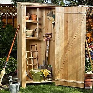Amazon Com All Things Cedar Gh30u Hutch Storage Shed