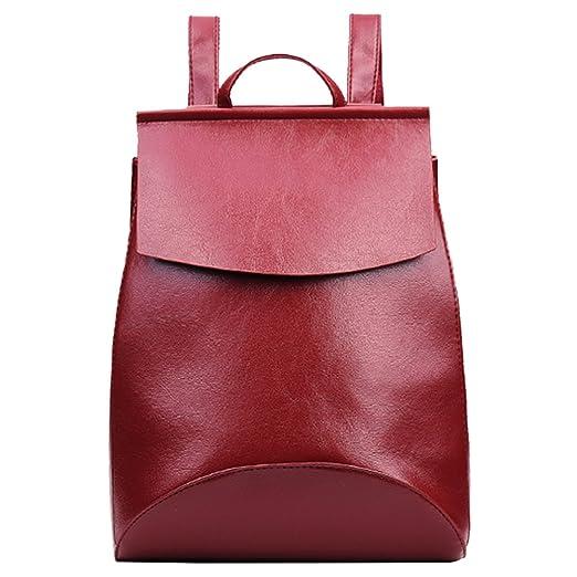 2 opinioni per Amazingdeal365 Donna Zaino Moda Pu Pelle Spalla Ragazza Borsa Scuola (Rosso)