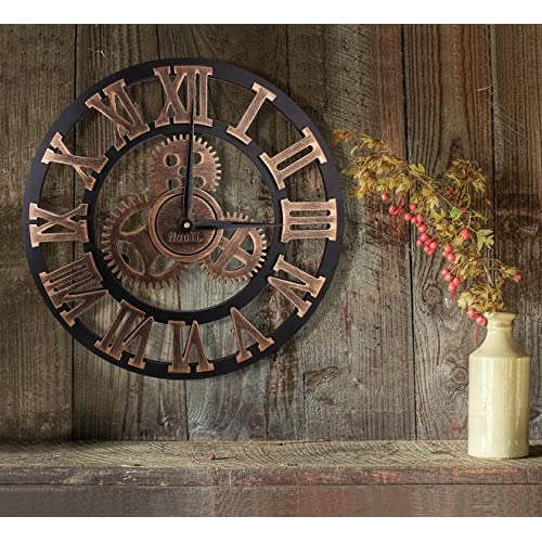 Best m m mymoon horloge murale en bois pendule r tro for Decoration murale cuivre