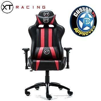 XTRacing EVO sillón reclinable Silla de Oficina Juegos Esports para Asiento Omega Red: Amazon.es: Hogar