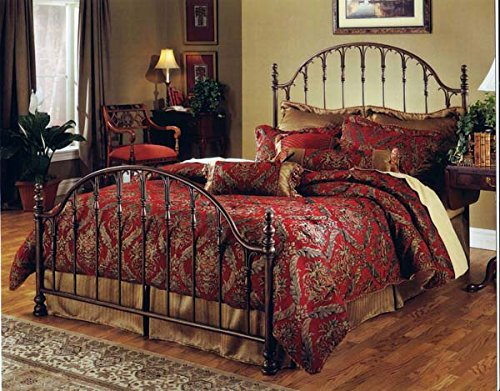 Hillsdale Furniture 1239BF Tyler Bed Set Without Rails, Full, Antique Bronze