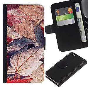 JackGot ( Pianta Natura Forrest Fiore 49 ) Apple (4.7 inches!!!) iPhone 6 / 6S la tarjeta de Crédito Slots PU Funda de cuero Monedero caso cubierta de piel
