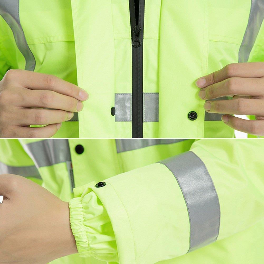 09604da49a214f 【特徴】軽量通気性レインコートレインコートパンツスーツ、大人用スプリットグリーンハイキング防水、PUコーティング、ハイライト反射 ...