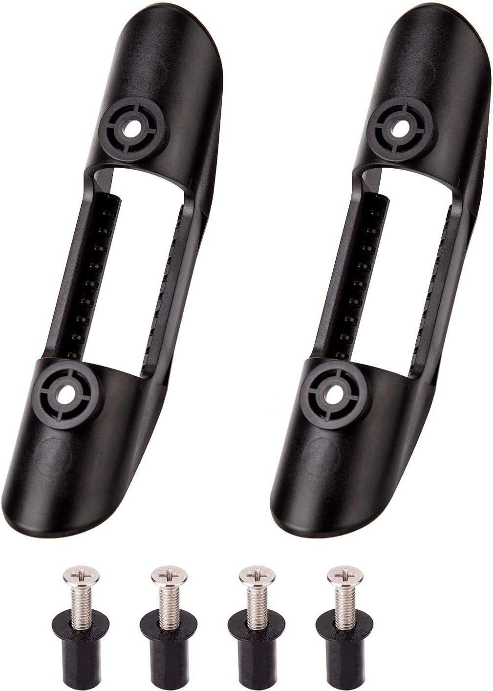 POFET 2 clips de montaje para palas de kayak, soporte universal de plástico para palas de kayak, accesorios de paleta de kayak y clips de red de pesca (4 tornillos incluidos)