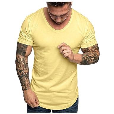 Camisetas Hombre Originales Manga Corta,ZARLLE Camiseta Clásica Cuello Redondo para Hombre, Camisetas Hombre Manga Corta,Tallas Extra Grande S XXL|