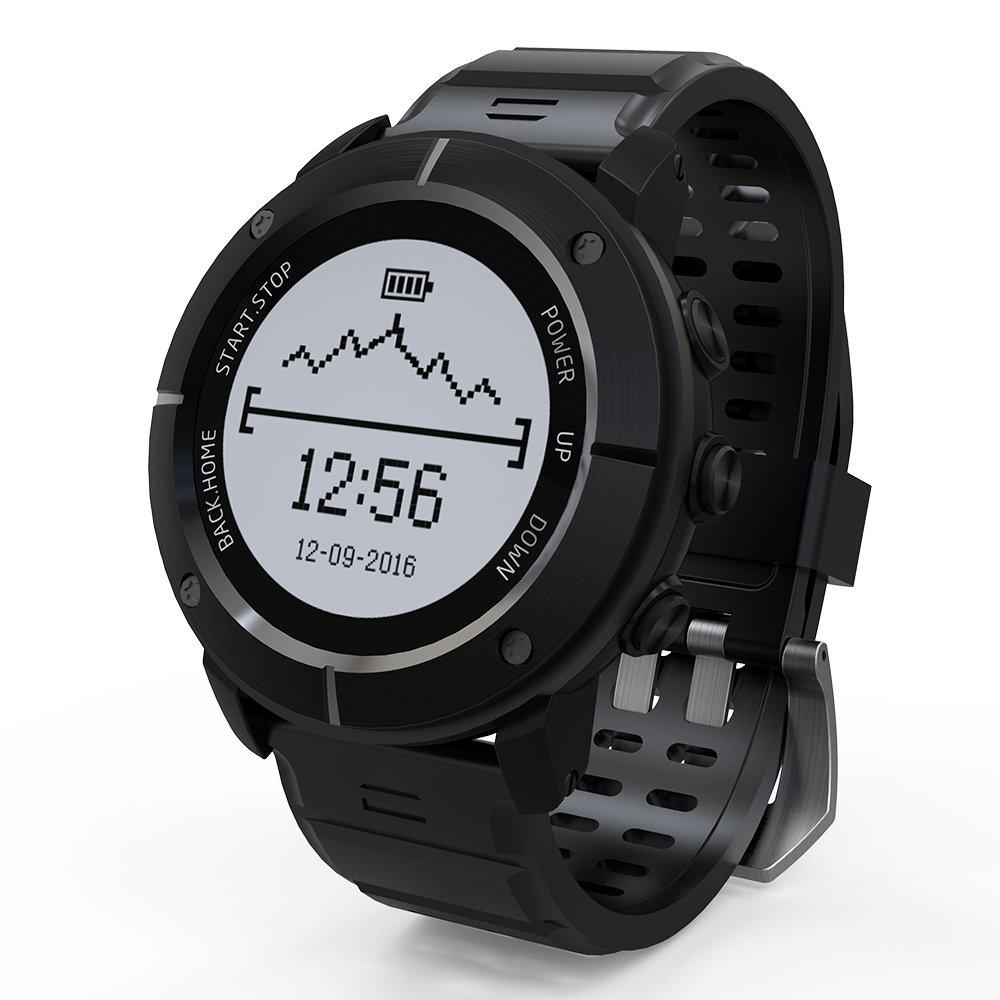 Lixada Outdoor Smart Sport GPS Watch Waterproof Adventurer Watch for Men and Women Running Swimming Hiking Cycling Triathlon with Heart Rate Monitor Compass Altimeter Barometer