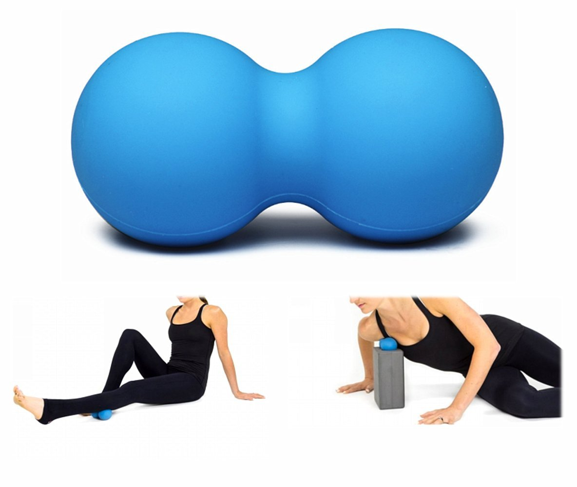 Double Massageball Massagegebälle Doppelter Massieren Bäll Faszien Rolle RSPrime