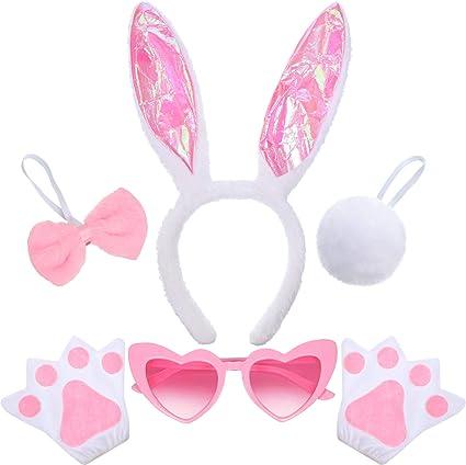 5 Piezas Accesorios de Disfraces de Conejo Conejito Incluyes ...